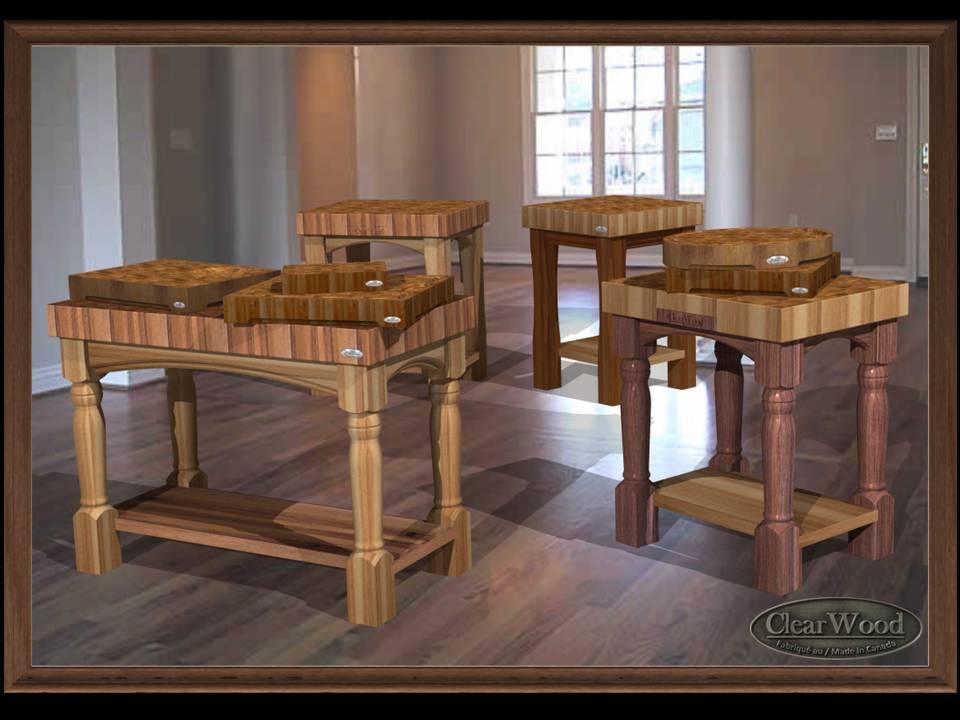 clearwood butcher block table de boucher dessus comptoir en bois tal de boucher. Black Bedroom Furniture Sets. Home Design Ideas